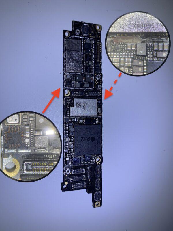 iPhone XR - uszkodzony przez technika