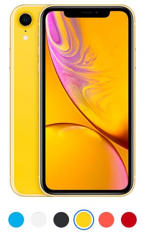 iPhone XR żółty